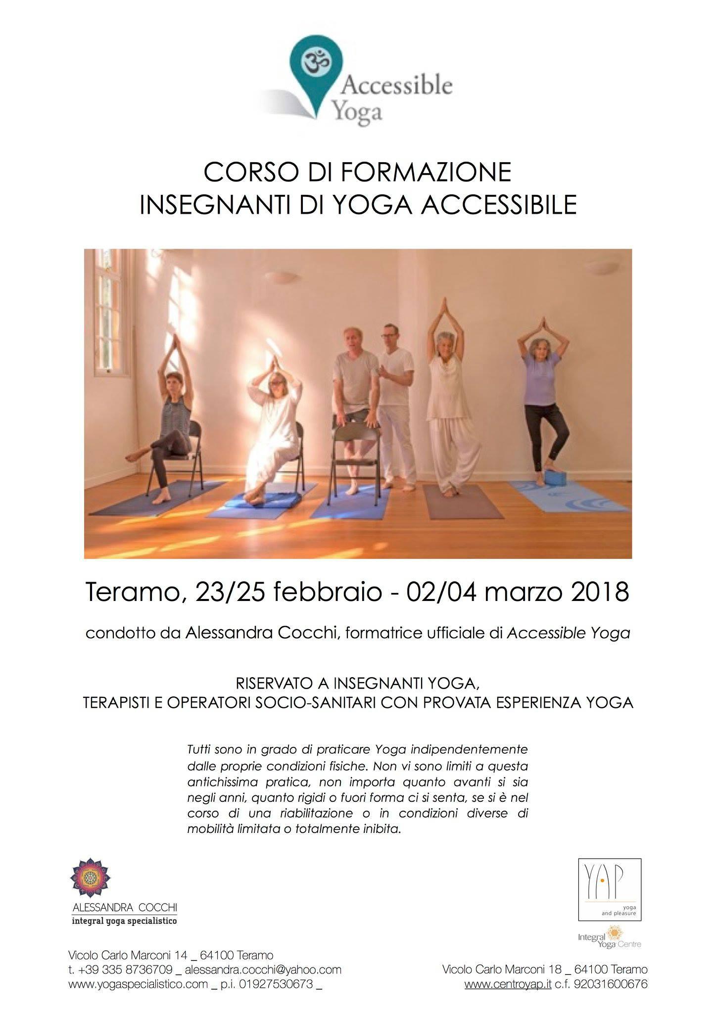 Corso di Formazione in Yoga Accessibile