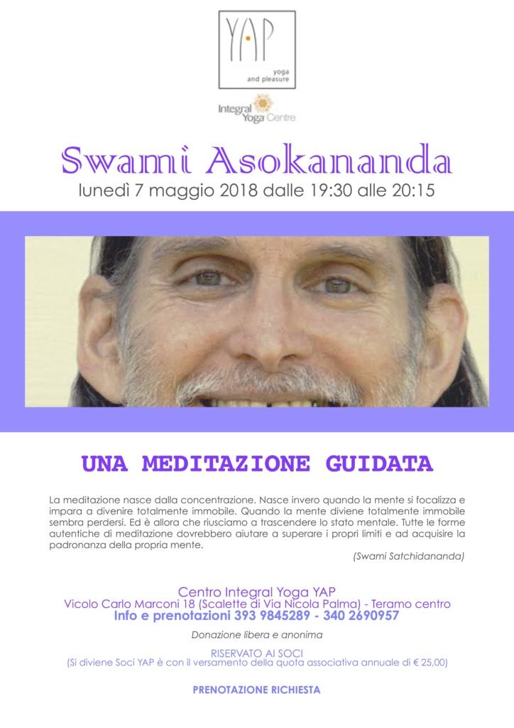 Meditazione guidata da Swami Asokananda
