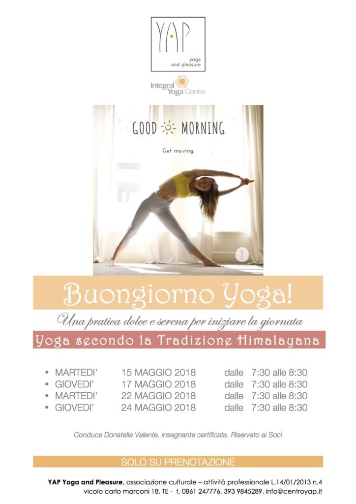 Buongiorno Yoga! 4 lezioni di Yoga Himalayano a maggio