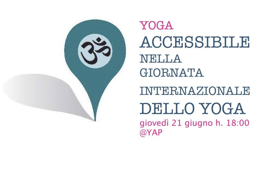 Yoga Accessibile nella Giornata Internazionale dello Yoga