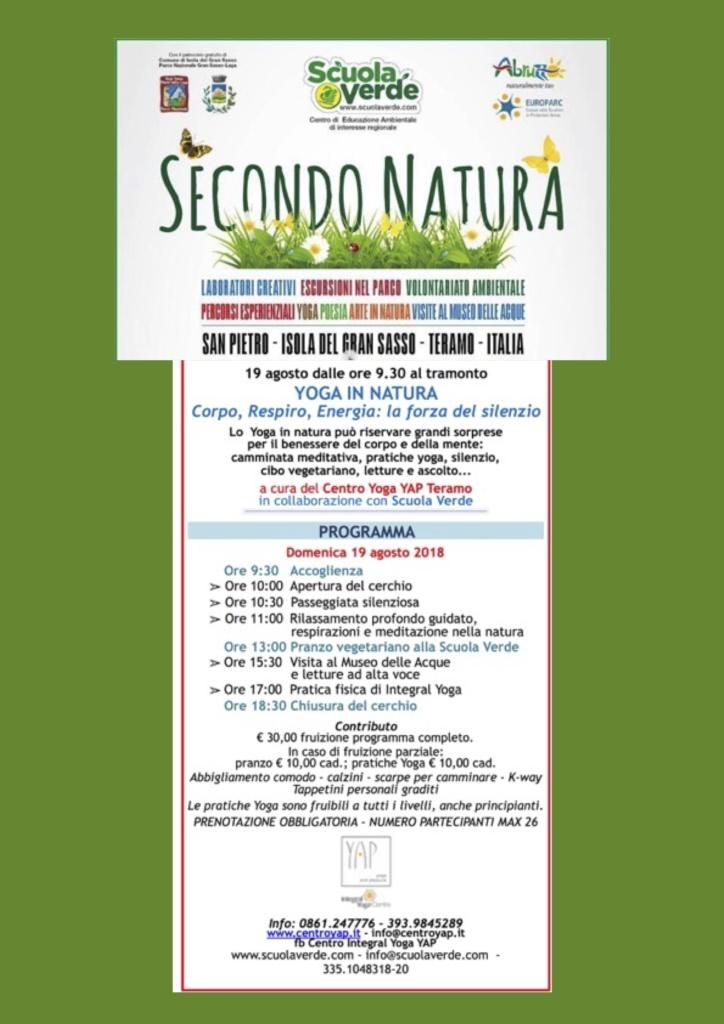Yoga in Natura 2018 - Corpo, Respiro, Energia, la Forza del Silenzio