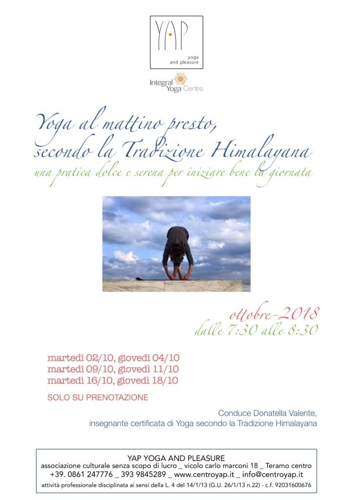 Buongiorno Yoga! La pratica Himalayana al mattino presto - martedì e giovedì h. 7:30/8:30