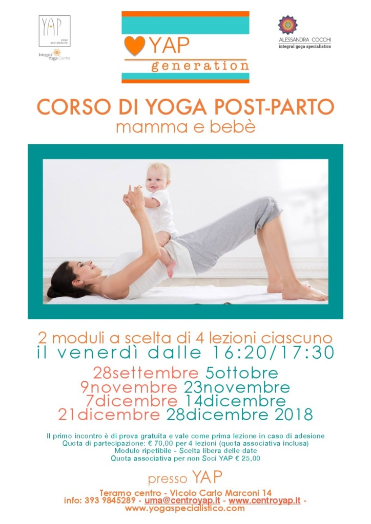 Corso di Yoga Post-Parto