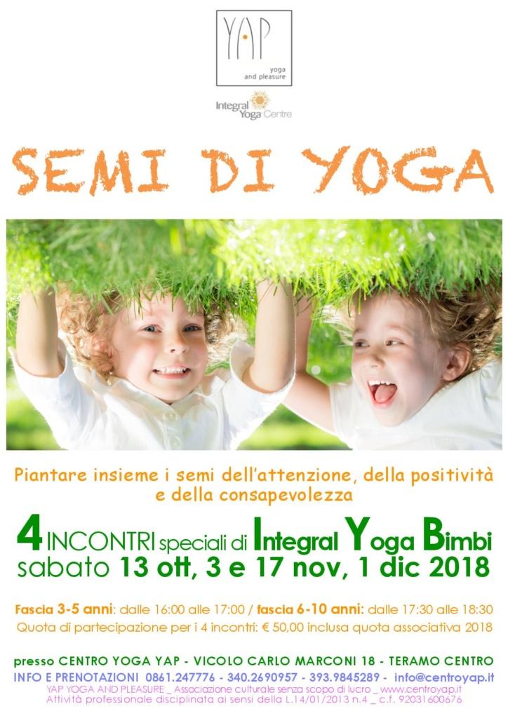 Semi di Yoga - Integral Yoga Bimbi - 3-5 anni e 6-10 anni