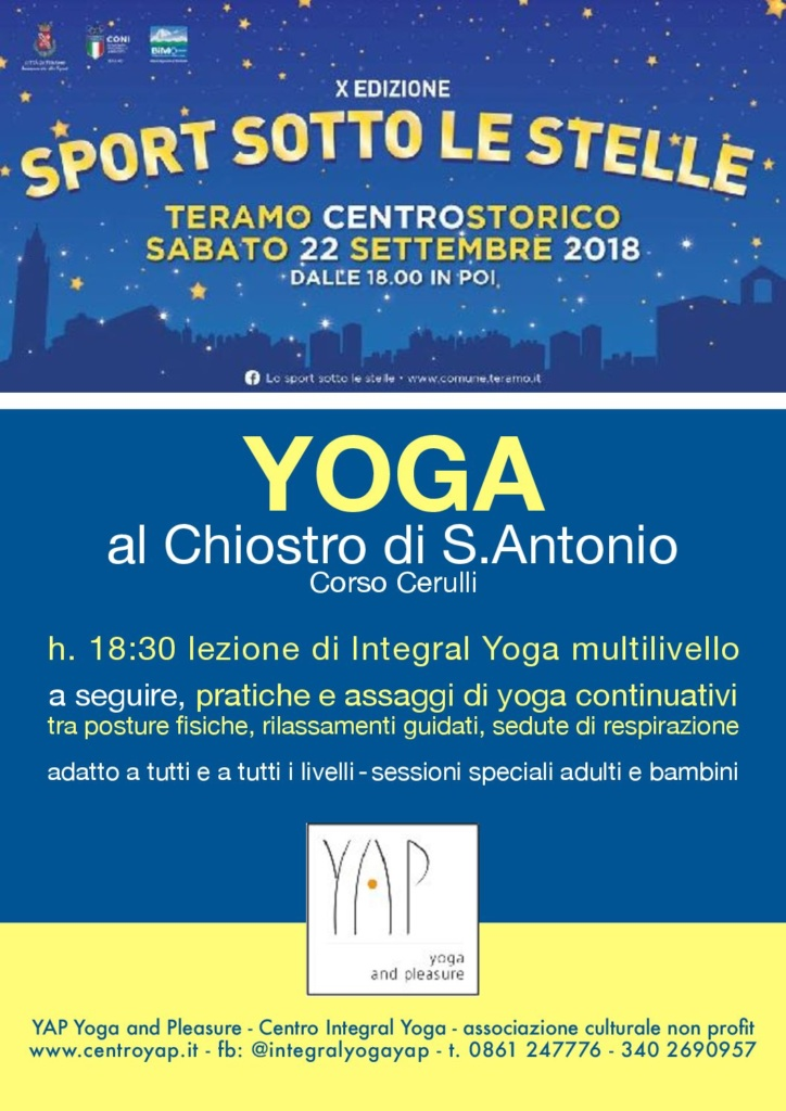 YAP @ Sportissimamente Lo Sport Sotto Le Stelle - sabato 22 settembre 2018