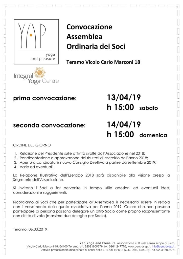 Assemblea Ordinaria dei Soci anno 2019