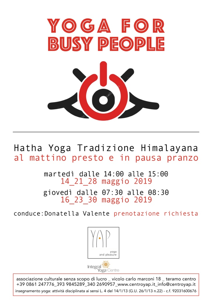 Yoga for Busy People maggio 2019