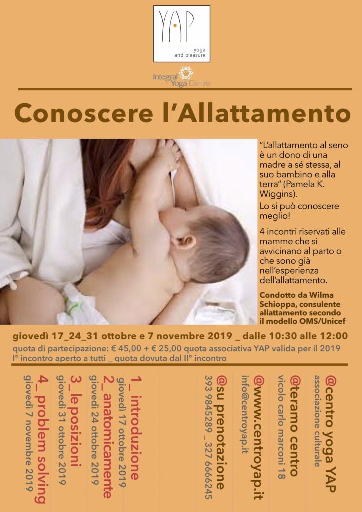 Conoscere l'allattamento
