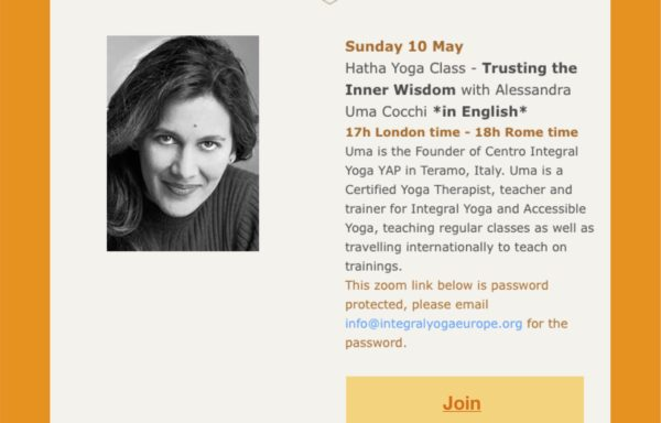 """Trusting the Inner Wisdom"" Integral Yoga Class in English"