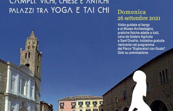 """Campli: Chiese e Antichi Palazzi tra Yoga e Tai Chi (""""Esploratori con Gusto"""")"""