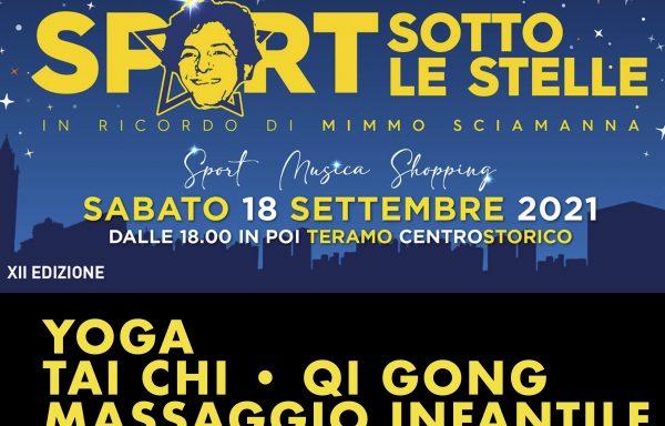 Sport Sotto le Stelle Teramo 2021 • Yoga, Tai Chi e Massaggio Infantile al Chiostro di Sant'Antonio